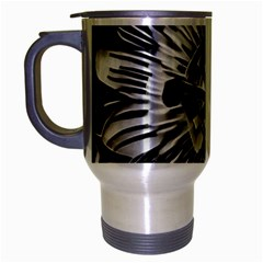 Black And White Passion Flower Passiflora  Travel Mug (silver Gray) by yoursparklingshop