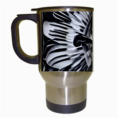 Black And White Passion Flower Passiflora  Travel Mugs (white) by yoursparklingshop
