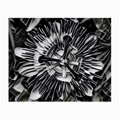 Black And White Passion Flower Passiflora  Small Glasses Cloth by yoursparklingshop