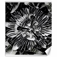 Black And White Passion Flower Passiflora  Canvas 8  X 10  by yoursparklingshop