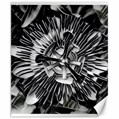 Black And White Passion Flower Passiflora  Canvas 20  X 24   by yoursparklingshop