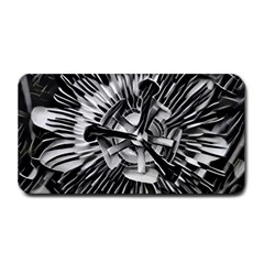 Black And White Passion Flower Passiflora  Medium Bar Mats by yoursparklingshop