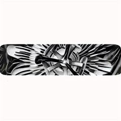 Black And White Passion Flower Passiflora  Large Bar Mats by yoursparklingshop