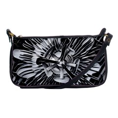 Black And White Passion Flower Passiflora  Shoulder Clutch Bags by yoursparklingshop