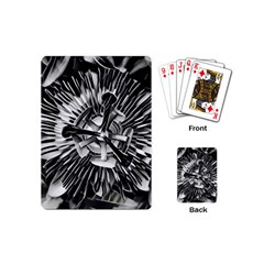 Black And White Passion Flower Passiflora  Playing Cards (mini)  by yoursparklingshop