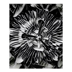 Black And White Passion Flower Passiflora  Shower Curtain 60  X 72  (medium)  by yoursparklingshop