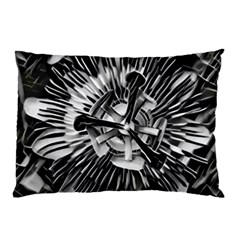 Black And White Passion Flower Passiflora  Pillow Case (two Sides) by yoursparklingshop