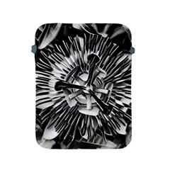 Black And White Passion Flower Passiflora  Apple Ipad 2/3/4 Protective Soft Cases by yoursparklingshop