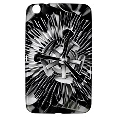 Black And White Passion Flower Passiflora  Samsung Galaxy Tab 3 (8 ) T3100 Hardshell Case  by yoursparklingshop