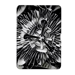Black And White Passion Flower Passiflora  Samsung Galaxy Tab 2 (10 1 ) P5100 Hardshell Case  by yoursparklingshop