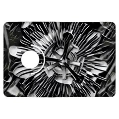 Black And White Passion Flower Passiflora  Kindle Fire Hdx Flip 360 Case by yoursparklingshop