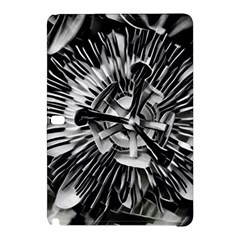 Black And White Passion Flower Passiflora  Samsung Galaxy Tab Pro 10 1 Hardshell Case by yoursparklingshop