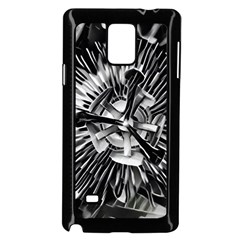 Black And White Passion Flower Passiflora  Samsung Galaxy Note 4 Case (black) by yoursparklingshop