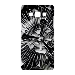 Black And White Passion Flower Passiflora  Samsung Galaxy A5 Hardshell Case  by yoursparklingshop