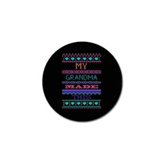 My Grandma Made This Ugly Holiday Black Background Golf Ball Marker (10 Pack) by Onesevenart