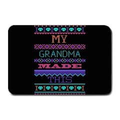 My Grandma Made This Ugly Holiday Black Background Plate Mats by Onesevenart