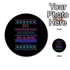 My Grandma Made This Ugly Holiday Black Background Multi Purpose Cards (round)  by Onesevenart