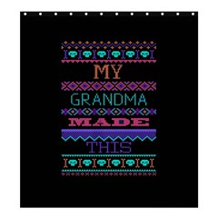 My Grandma Made This Ugly Holiday Black Background Shower Curtain 66  X 72  (large)  by Onesevenart