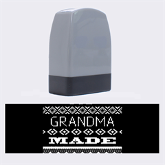 My Grandma Made This Ugly Holiday Black Background Name Stamps by Onesevenart