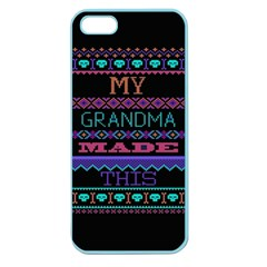 My Grandma Made This Ugly Holiday Black Background Apple Seamless Iphone 5 Case (color) by Onesevenart