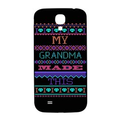 My Grandma Made This Ugly Holiday Black Background Samsung Galaxy S4 I9500/i9505  Hardshell Back Case by Onesevenart