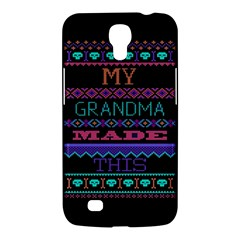 My Grandma Made This Ugly Holiday Black Background Samsung Galaxy Mega 6 3  I9200 Hardshell Case by Onesevenart