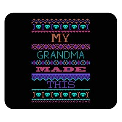 My Grandma Made This Ugly Holiday Black Background Double Sided Flano Blanket (small)  by Onesevenart