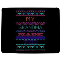 My Grandma Made This Ugly Holiday Black Background Jigsaw Puzzle Photo Stand (rectangular) by Onesevenart