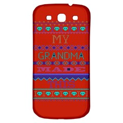 My Grandma Made This Ugly Holiday Red Background Samsung Galaxy S3 S Iii Classic Hardshell Back Case by Onesevenart