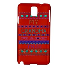 My Grandma Made This Ugly Holiday Red Background Samsung Galaxy Note 3 N9005 Hardshell Case by Onesevenart