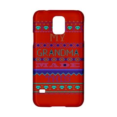 My Grandma Made This Ugly Holiday Red Background Samsung Galaxy S5 Hardshell Case  by Onesevenart