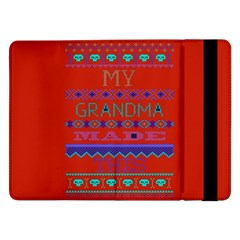 My Grandma Made This Ugly Holiday Red Background Samsung Galaxy Tab Pro 12 2  Flip Case by Onesevenart