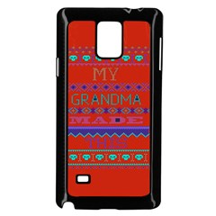 My Grandma Made This Ugly Holiday Red Background Samsung Galaxy Note 4 Case (black) by Onesevenart