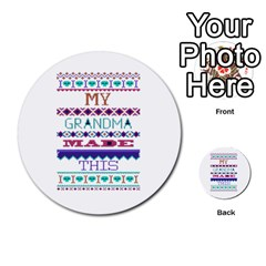 My Grandma Made This Ugly Holiday Multi Purpose Cards (round)  by Onesevenart