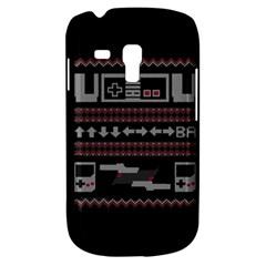 Old School Ugly Holiday Christmas Black Background Samsung Galaxy S3 Mini I8190 Hardshell Case by Onesevenart
