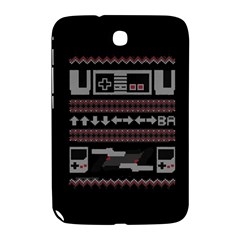 Old School Ugly Holiday Christmas Black Background Samsung Galaxy Note 8 0 N5100 Hardshell Case  by Onesevenart