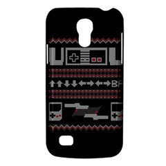 Old School Ugly Holiday Christmas Black Background Galaxy S4 Mini by Onesevenart