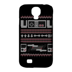 Old School Ugly Holiday Christmas Black Background Samsung Galaxy S4 Classic Hardshell Case (pc+silicone) by Onesevenart