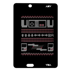 Old School Ugly Holiday Christmas Black Background Amazon Kindle Fire Hd (2013) Hardshell Case by Onesevenart