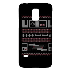 Old School Ugly Holiday Christmas Black Background Galaxy S5 Mini by Onesevenart
