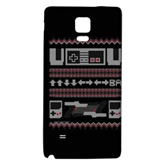Old School Ugly Holiday Christmas Black Background Galaxy Note 4 Back Case by Onesevenart