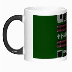 Old School Ugly Holiday Christmas Green Background Morph Mugs by Onesevenart
