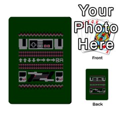 Old School Ugly Holiday Christmas Green Background Multi Purpose Cards (rectangle)  by Onesevenart