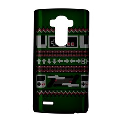 Old School Ugly Holiday Christmas Green Background Lg G4 Hardshell Case by Onesevenart