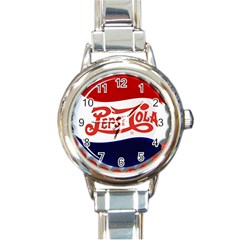 Pepsi Cola Round Italian Charm Watch by Onesevenart