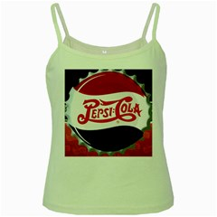 Pepsi Cola Green Spaghetti Tank by Onesevenart
