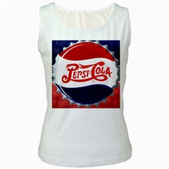Pepsi Cola Women s White Tank Top by Onesevenart