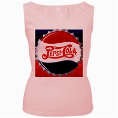 Pepsi Cola Women s Pink Tank Top by Onesevenart