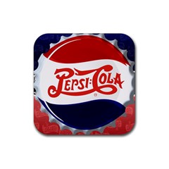 Pepsi Cola Rubber Square Coaster (4 Pack)  by Onesevenart