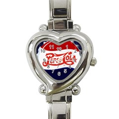 Pepsi Cola Heart Italian Charm Watch by Onesevenart